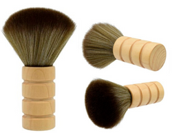 Hairdresser Salon or Barber Shop Neck Brush (Light Wooden Brown)
