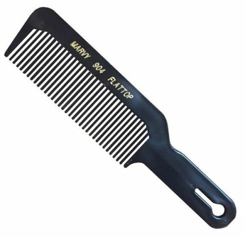 Marvy Flat Top/Fade Barber's Hair Clipper Cutting Comb 904 (Black)