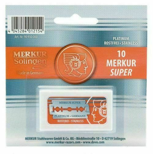 Merkur Premium Double Edge Safety Razor Blades | 10 Count