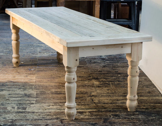 Nidderdale   Solid Pine Traditional Farmhouse Dining Table Any Size 4ft 5ft  6ft 7 Ft 8ft