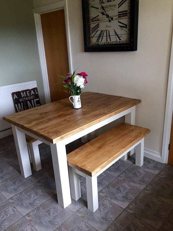 Modern chunky dining table and bench set brogan french modern chunky dining table and bench set brogan french watchthetrailerfo