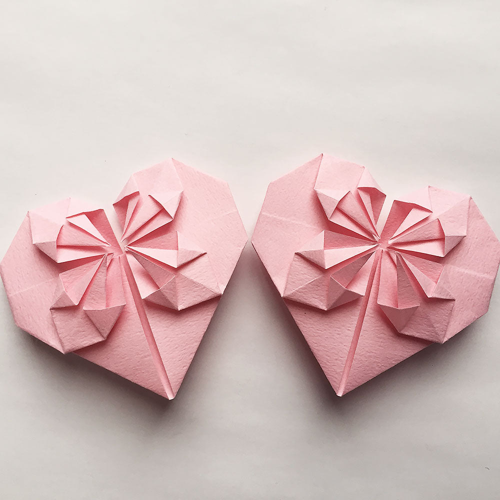Set of Origami Paper Hearts – Origamiland Decorations