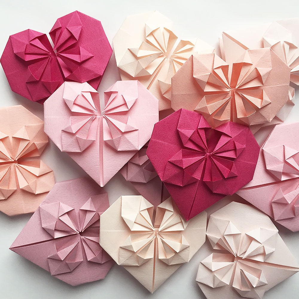 Set Of Origami Paper Hearts Origamiland Decorations