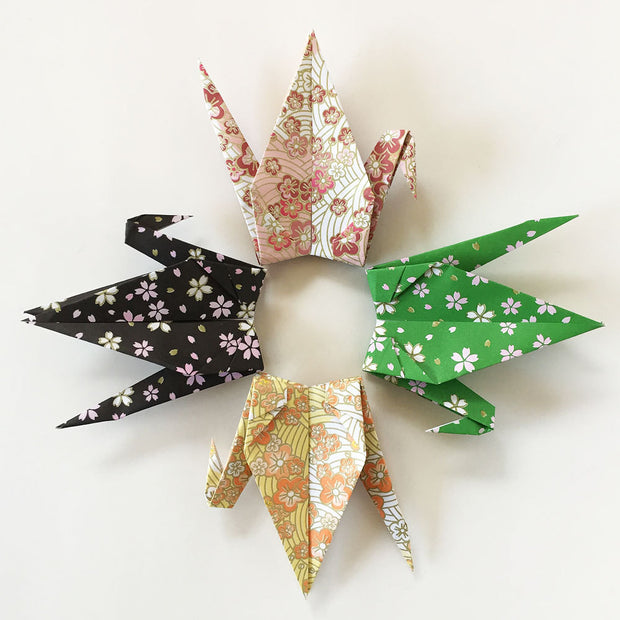 "1000 6"" Japanese Style Pattern Origami Paper Cranes"