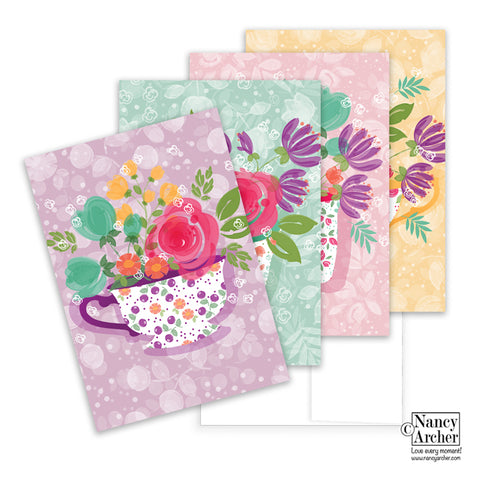 Watercolor Meadow Notecards-4 pack