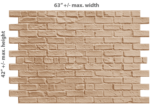 PAS002 - Exposed Alley Brick  (Paintable Only)