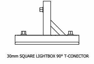 30mm Square T-Connector
