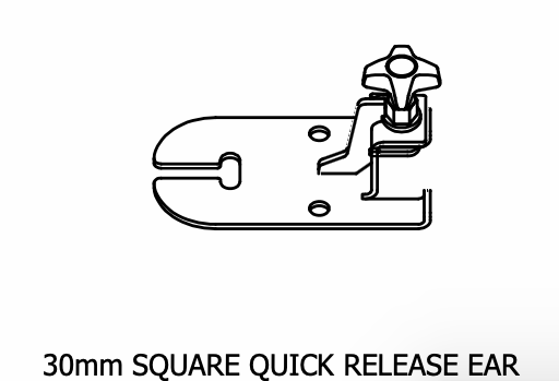 30mm Square Quick Release Ear