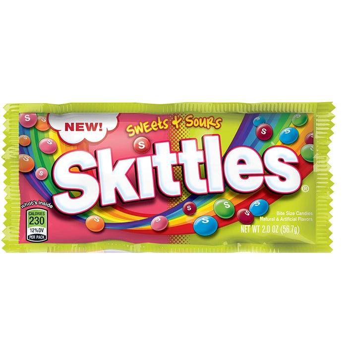 Skittles - Sweets & Sours 56g