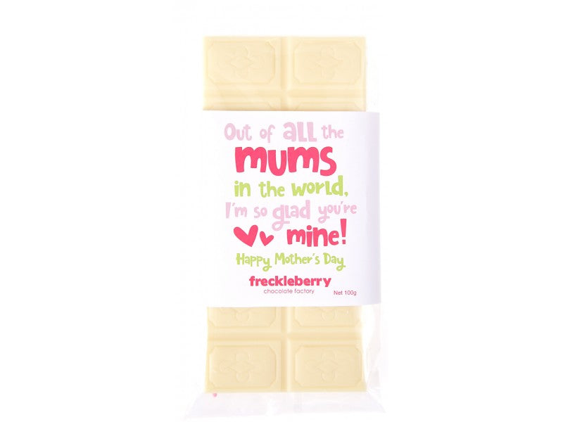 Freckleberry White Choc Block 100g