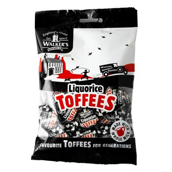 Walkers - Liquorice Toffees 150g