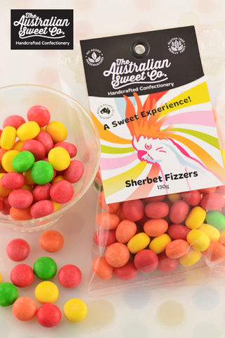 The Australian Sweet Co. Sherbet Fizzers 130g