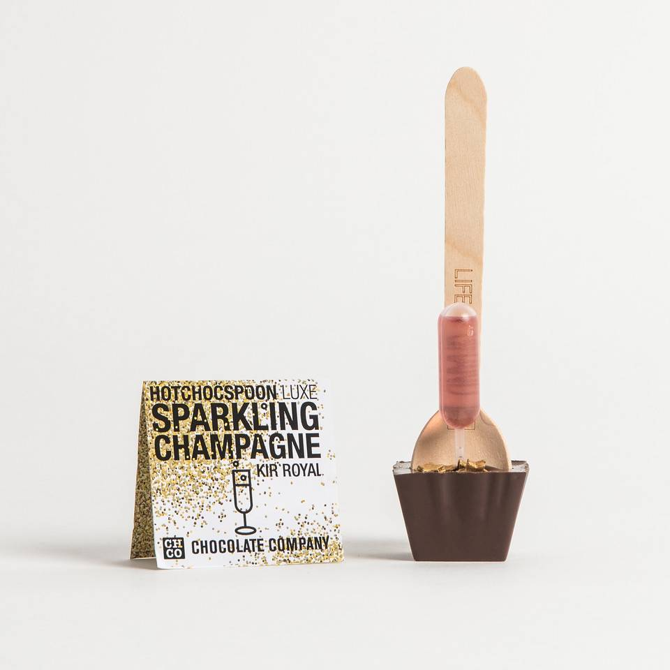 Chocolate Co. Sparkling Champagne Dark Choc Spoon 50g