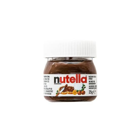 Mini Nutella Jar 25g Past Best Before