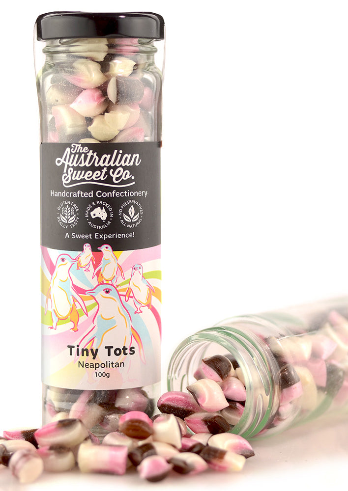 The Australian Sweet Co. Neapolitan Tiny Tots 100g