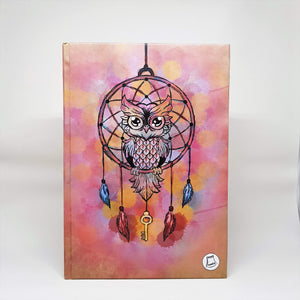 Owl Dream Catcher-Hardcover Notebook-noota_stationery-RowaqBookstore