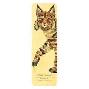 Dolan Bobcat • Bookmark-Wood Bookmark-Night Owl Paper Goods-RowaqBookstore