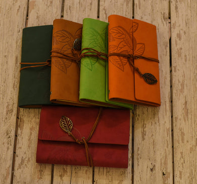 Meduim Size Real Leather Notebook * نوته جلد طبيعي حجم وسط-Leather Notebooks-Rowaq-RowaqBookstore