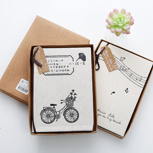 نوته موسيقية-Cloth Notebook-Cupid's Target-RowaqBookstore