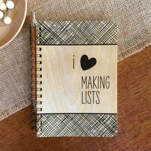 Making Lists • Pocket Notebook-Wood Notebook-Night Owl Paper Goods-RowaqBookstore