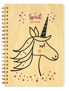 Unicorn • Journal-Wood Notebook-Night Owl Paper Goods-RowaqBookstore