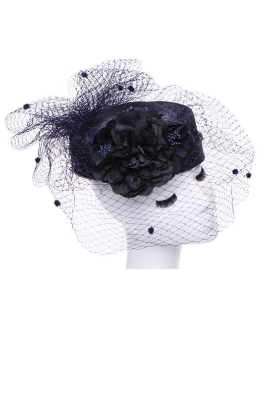 Flower Pillbox Hat - Fashdime
