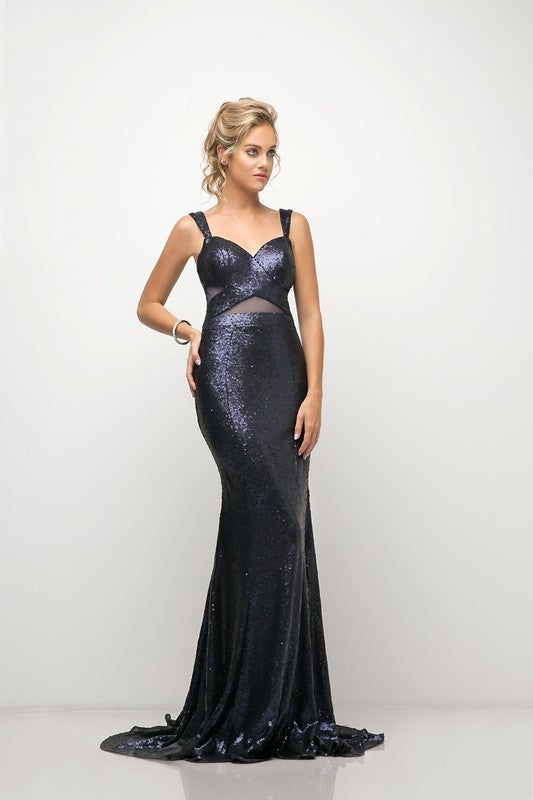 Shimmering Long Sleeveless Dress - Fashdime shopfashdime.com