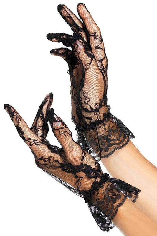 Wrist Length Lace Gloves - Fashdime shopfashdime.com