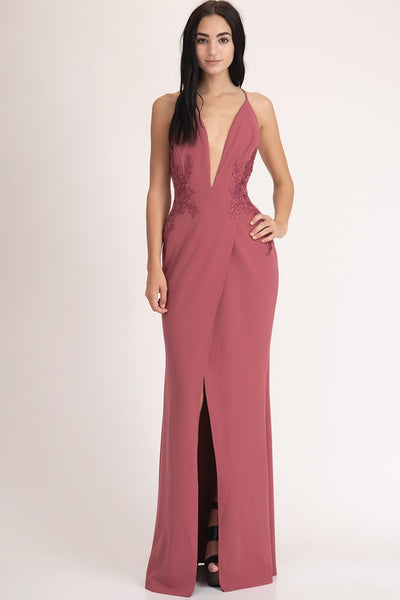 V-NECK SPAGHETTI STRAP DRESS - Fashdime shopfashdime.com