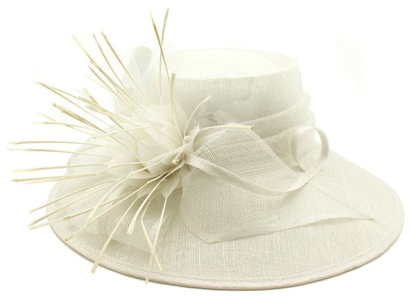 Feather Sinamay Hat - Fashdime shopfashdime.com