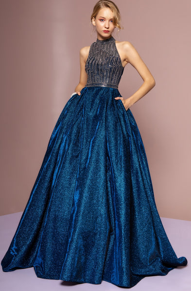 Halter Princess Ball Gown - Fashdime