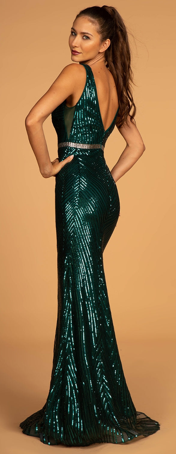 Sequin Long Head Turning Dress - Fashdime shopfashdime.com
