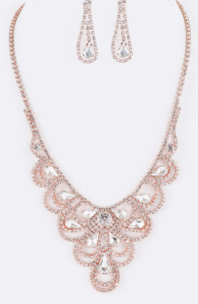 Rhinestone Artisan Evening Necklace Set  - Fashdime shopfashdime.com