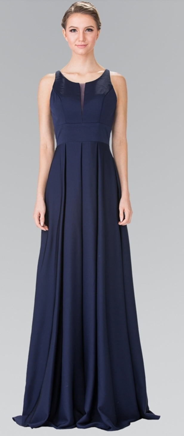 Prom Dress with Notched Scoop and Long Skirt - Fashdime shopfashdime.com