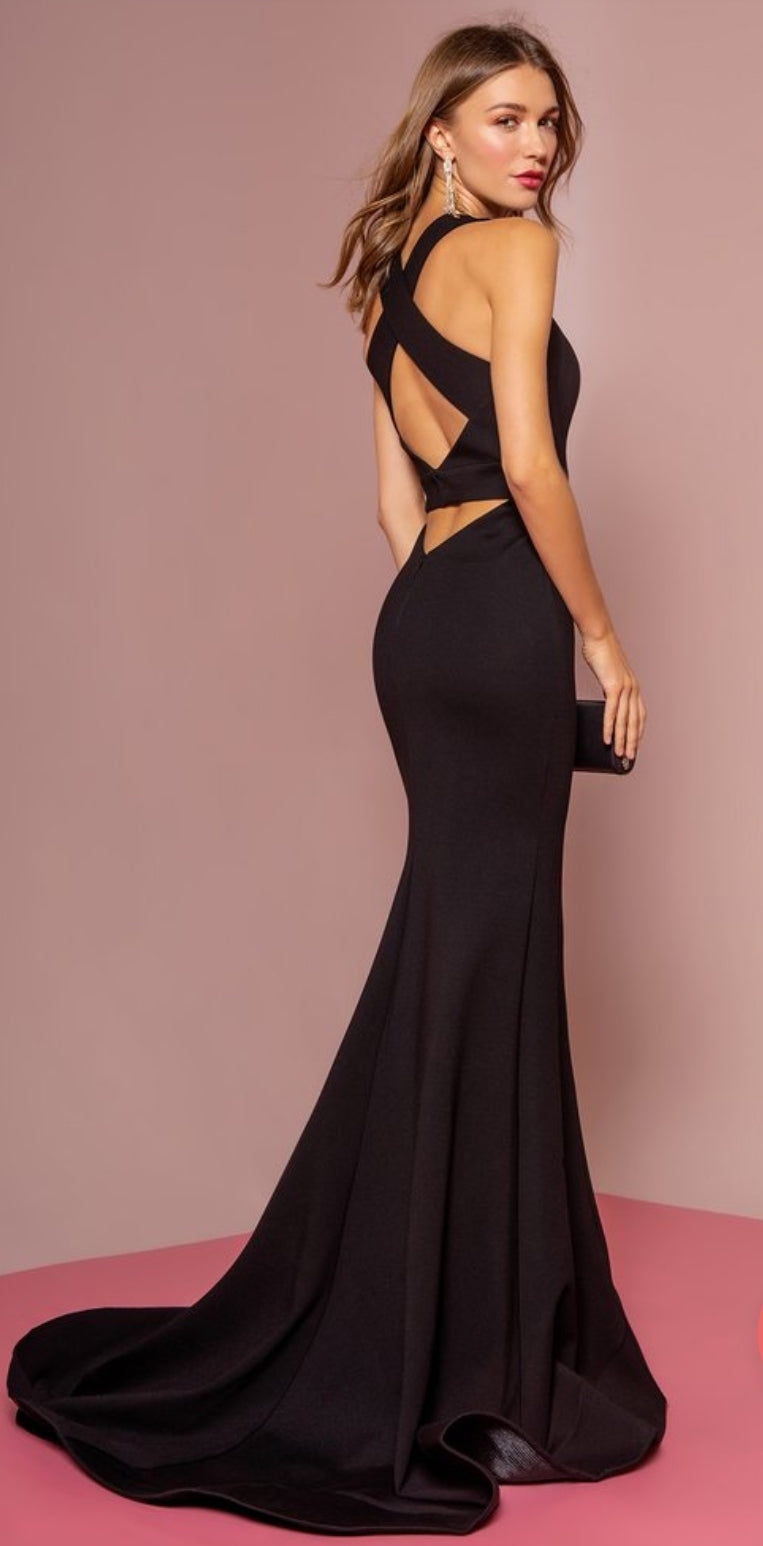 Cross Halter Mermaid Dress - Fashdime shopfashdime.com