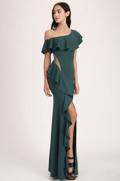 ONE SHOULDER MAXI DRESS - Fashdime shopfashdime.com