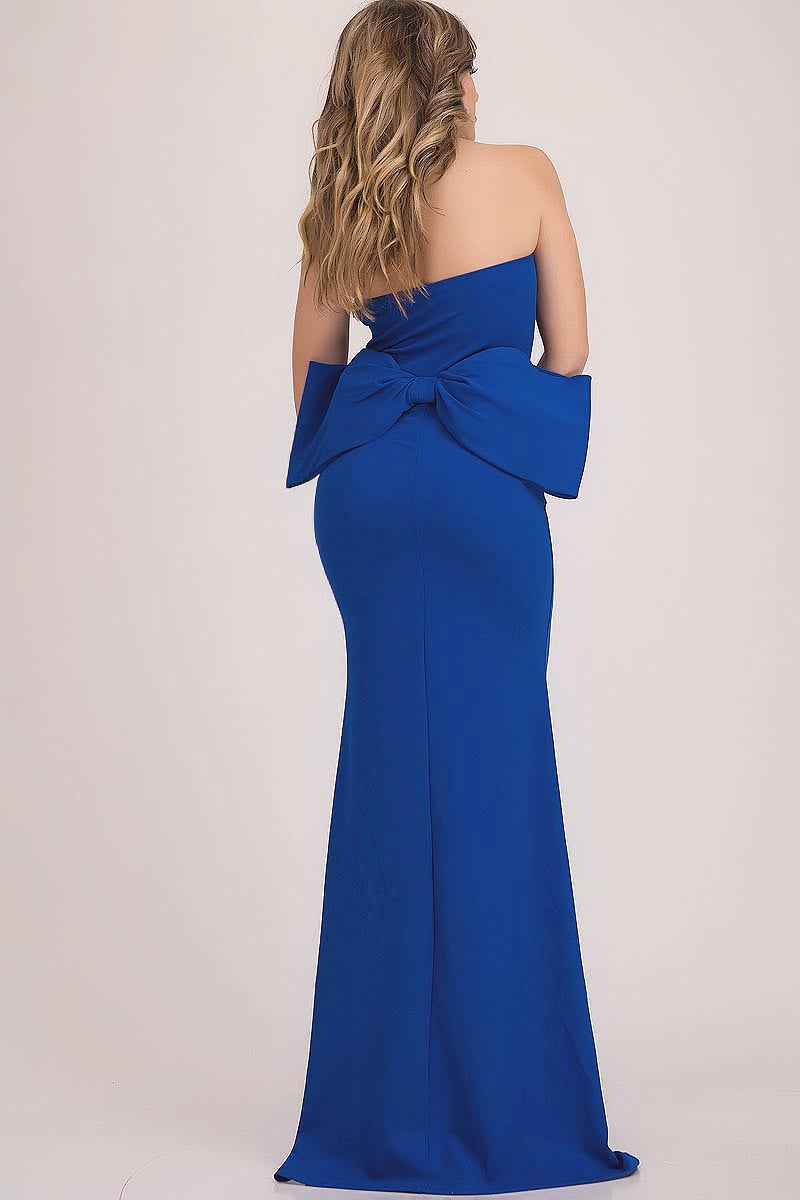 BACK BOW STRAPLESS DRESS  - Fashdime shopfashdime.com