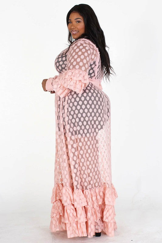 Love Goddess Sheer Maxi Dress