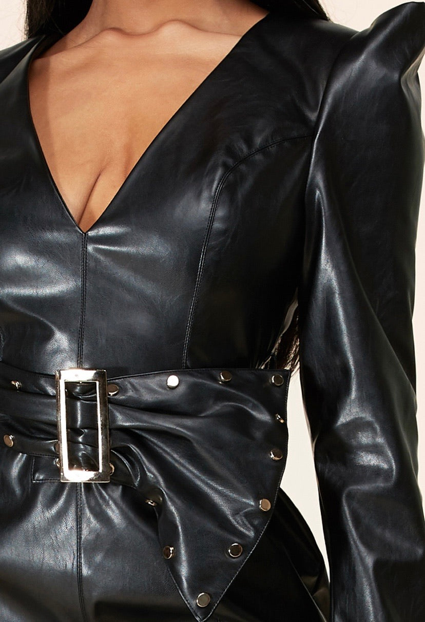 Good Trouble Leather Dress