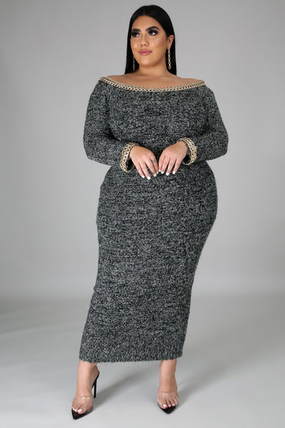 A Touch Of Class Midi Dress