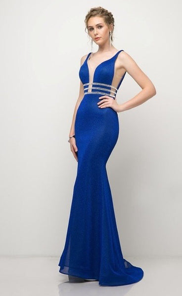 Fitted gown with beaded belt - Fashdime shopfashdime.com