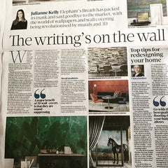 Walls covered, so to speak in our Sunday Business Post column!