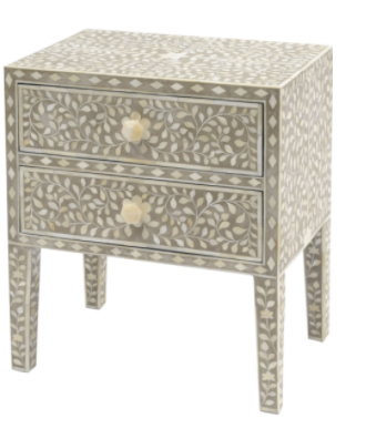 Inlaid Petal side table