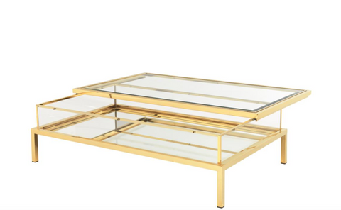 Gliding Gold coffee table
