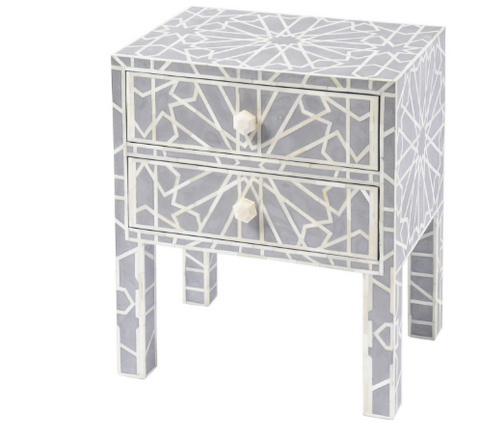 Inlaid Hexagonal bedside locker