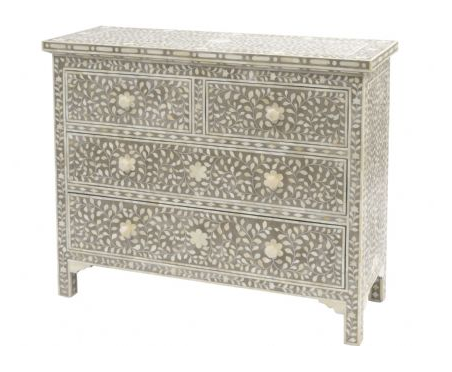 Inlaid Petal Chest of Drawers