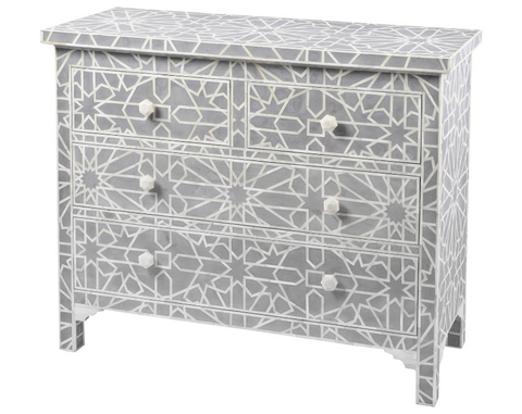 Inlaid Hexagonal chest of drawers