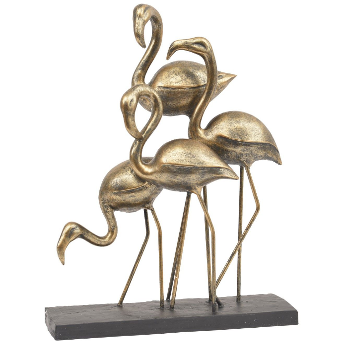 Bronze Flamingoes