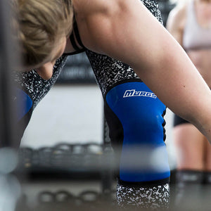 Blue Knee sleeves for olympic lifting