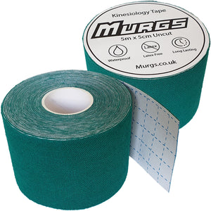 Murgs Hand Tape Kinesiology Tape 5m Roll Dark Green